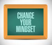 Change your mindset sign illustration — Stock Photo