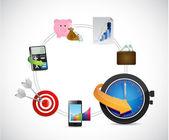 Time management concept illustration — Stock Photo