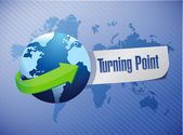Globe and turning point illustration — Stock Photo
