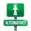 Alternatives street sign illustration — 图库照片 #56289621