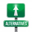 Alternatives street sign illustration — Zdjęcie stockowe #56289621