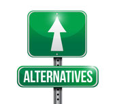 Alternatives street sign illustration — Stock Photo