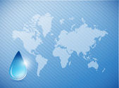 Water on earth concept illustration — Stock Photo