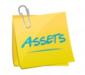 Assets post memo illustration design — Stock Photo