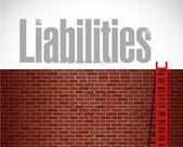 Liabilities ladder illustration design — Stock Photo