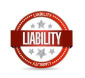 Liability seal illustration design — Stock Photo