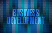 Business development binary blue background — Foto de Stock