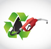 Recycle oil, gas pump concept illustration — Stock Photo