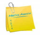 Meeting agenda memo illustration — Stock Photo