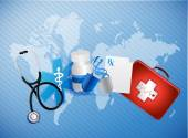 Medical icons illustration design — Stock Photo