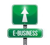 E-business road sign illustration design — Stock Photo