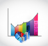 Statistics business graph illustration — Stock Photo