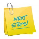Next steps post illustration design — Stock Photo #57076991