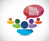 Equal rights diversity people illustration — Stock Photo