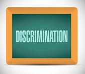 Discrimination message illustration — Stock Photo