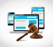 Internet copyright protection law illustration — Stock Photo