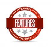 Características del sello diseño ilustración — Foto de Stock