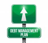 Debt management plan sign illustration — Stock Photo