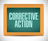 Corrective action sign message illustration — Stock Photo