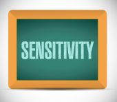 Sensitivity message sign illustration — Stock Photo
