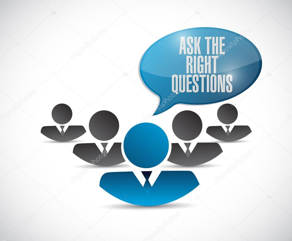 ask the right questions teamwork stock photo copy alexmillos  ask the right questions teamwork illustration design over a white background photo by alexmillos