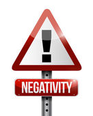 Negativity warning sign illustration design — Stock Photo