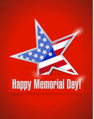 Happy memorial day illustration design — Stock Photo