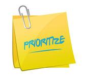 Prioritize post memo illustration — Stock Photo