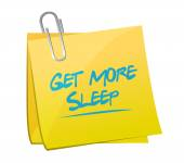 Get more sleep post it illustration design — Stockfoto