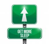 Get more sleep sign illustration design — Stock Photo