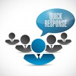 Quick response teamwork message — Stock Photo #58925769