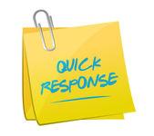 Quick response memo post illustration — Stock Photo