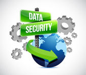 Industry data security around the globe — Stock Photo