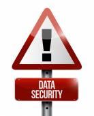 Data security warning sign illustration — Stock Photo