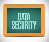 Data security sign post illustration design — Стоковое фото
