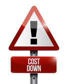 Cost down warning sign illustration — Stock Photo