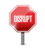Disrupt street sign illustration design — Stock Photo