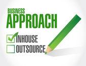 Business approach check list. inhouse illustration — Stock Photo