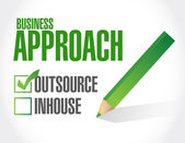 Business approach check list. outsource — Stock Photo