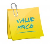 Value price memo post illustration — Stock Photo