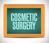 Cosmetic surgery board sign — Stock Photo