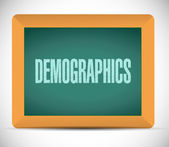 Demographics sign on a board — Stock Photo