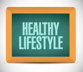 Healthy lifestyle board sign illustration — Stock Photo