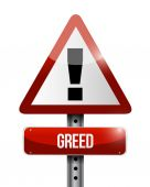 Greed warning sign illustration design — Stock Photo