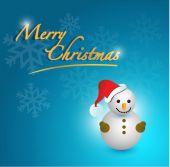 Merry christmas snowman card — Stock Photo