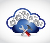 Cloud industrial connection illustration — Stock Photo