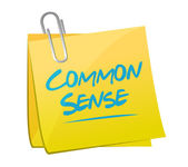 Common sense memo post illustration design — Stock Photo