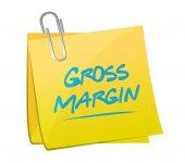 Gross margin memo post illustration — Stock Photo