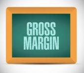 Gross margin board sign illustration — Stock Photo
