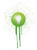 Light bulb and ink splatter illustration — Foto de Stock
